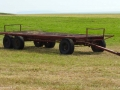 empty hay wagon