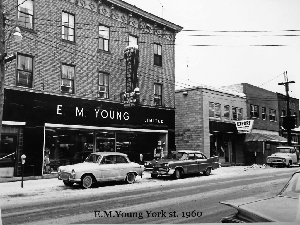 E M Youngs Two of Fredericton's best stores. ( Photo from- Harvey Studios 2016 calendar)