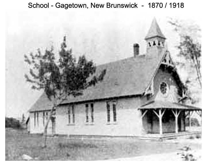 The second Gagetown Grammar School operated from 1870 until 1918