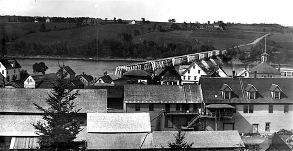 officially opened on July 4th, 1901, it was just a 1,282 foot long bridge crossing the River Saint John at Hartland.