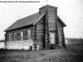 Allardville log church, ca. 1930's. _P425-12