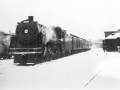 Train at York Station Fredericton NB 1954