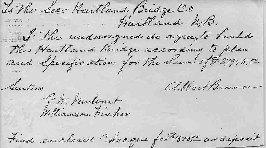 Albert Brewer contract Hartland Bridge