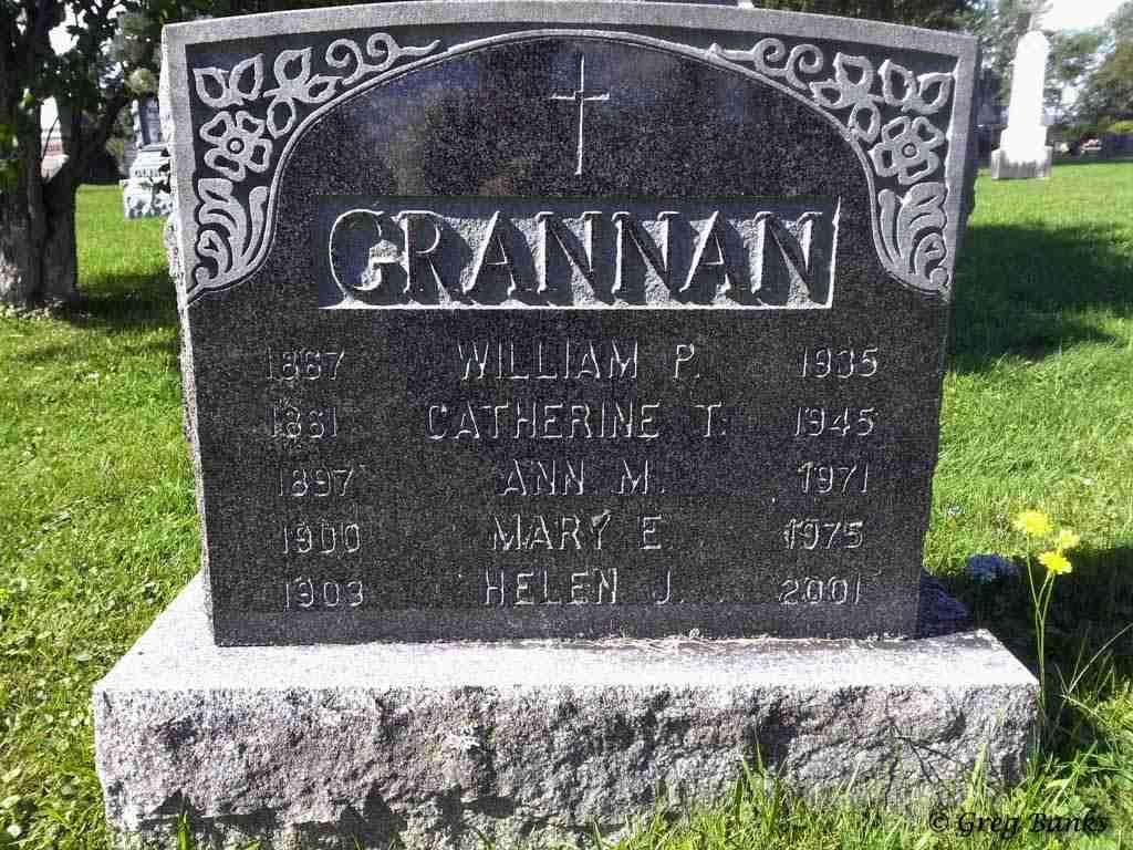 Mary Grannan headstone