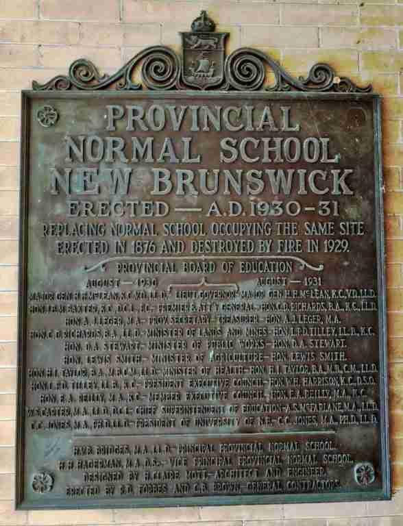 Provincial Normal School Plaque
