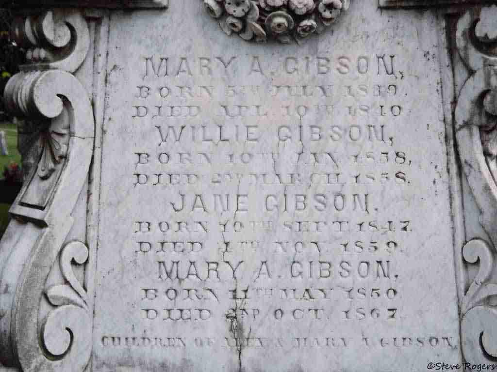 Mary Gibson Headstone