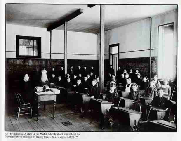 Fredericton Model School circa 1886. George Taylor Photo