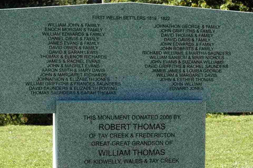 Cardigan NB Welsh Settlers Monument