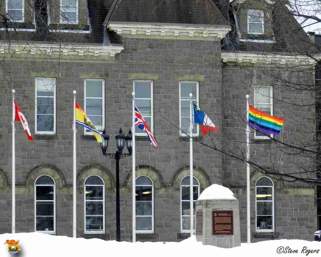 Gay Pride Flag At Legislature