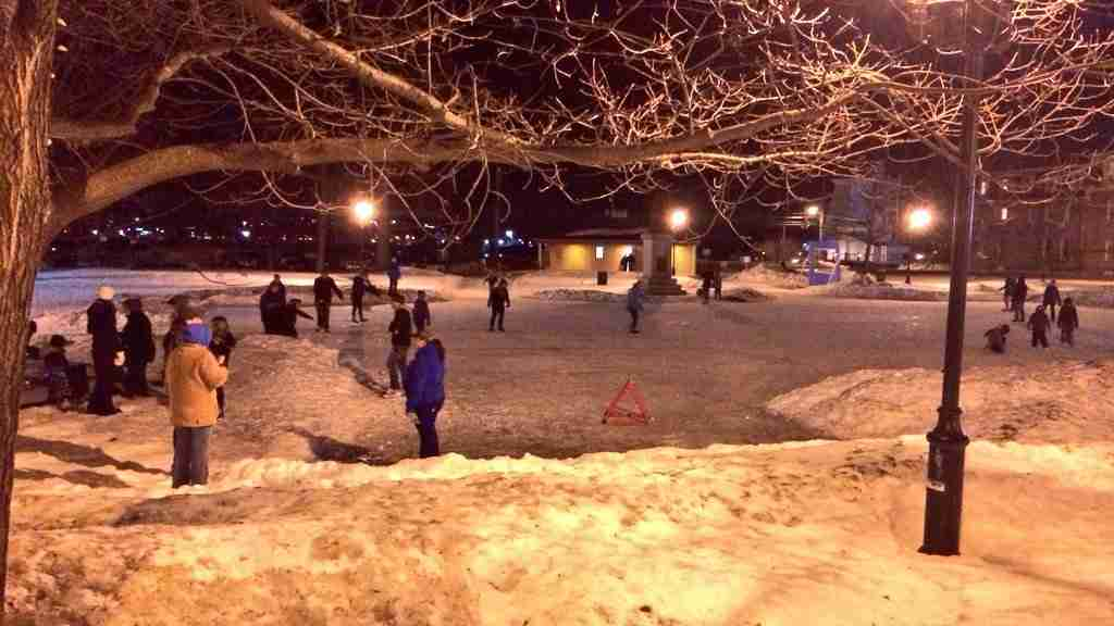 Night Skate At Officer's Square