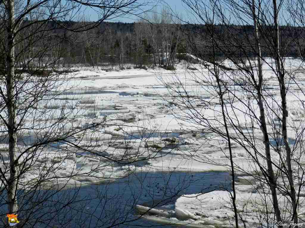 Ice in the Nashwaak River