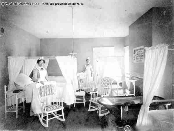 Nurses at the Victoria Public Hospital Fredericton P29-52