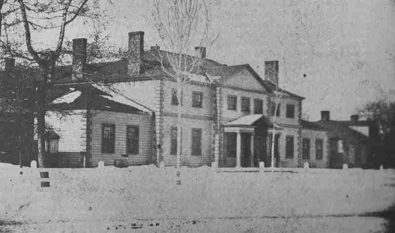 Provincial Hall, the NB Legislative Building, burned in 1880