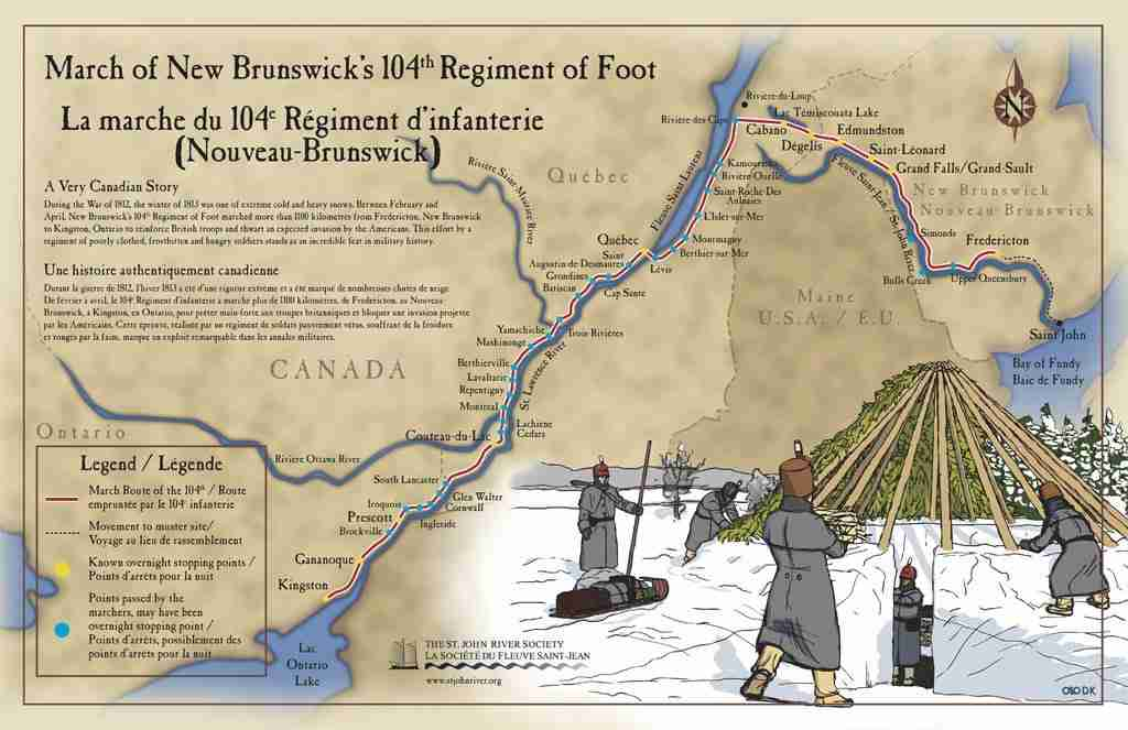 March of the NB 104th Regiment