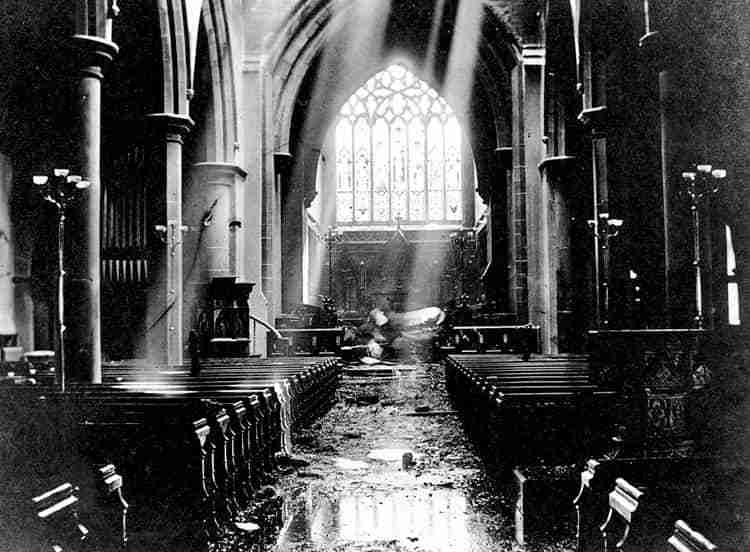 Christ Church Cathedral 1911 fire