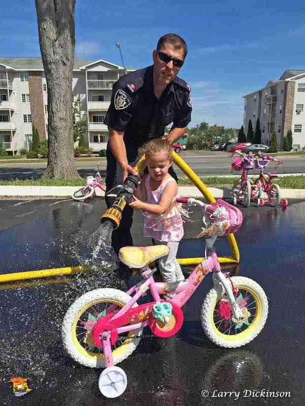 Fredericton Fire Department Bike Wash
