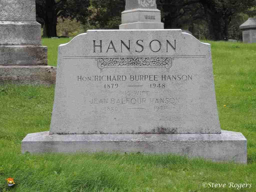 Richard Hanson Gravestone