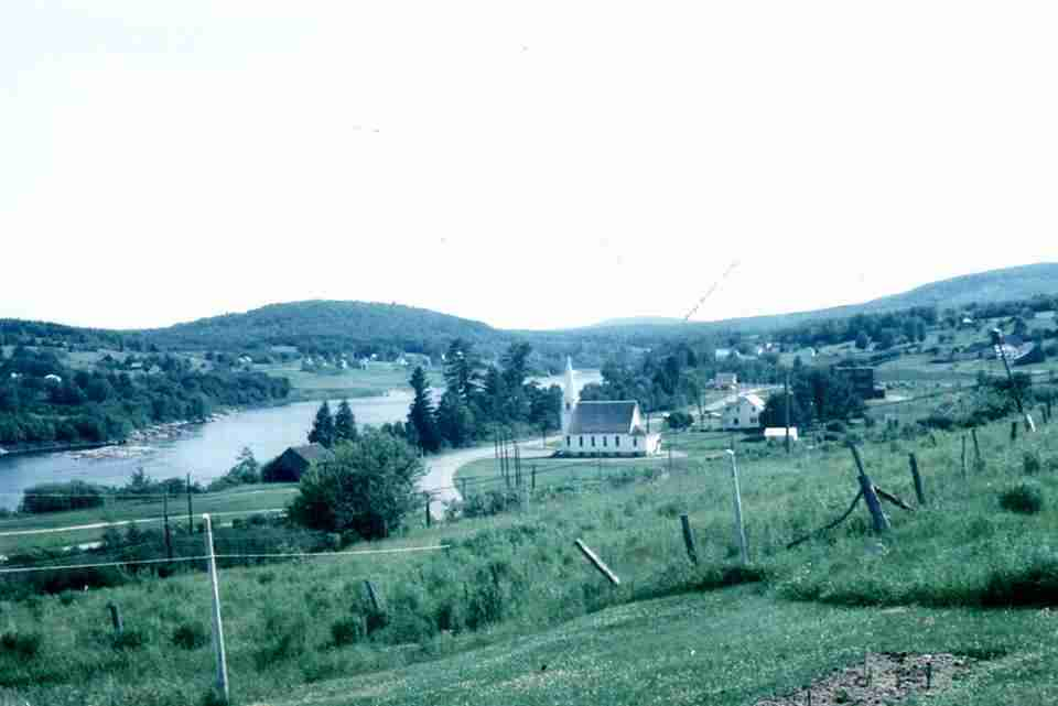 St. John River valley before Mactaquac Hydro Electric Dam was built.