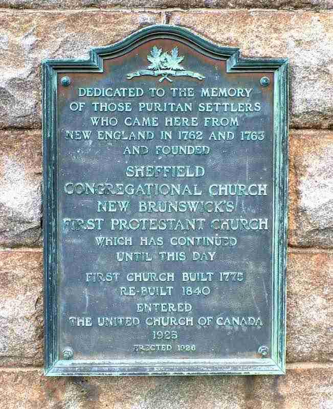 Sheffield Congregational Church Plaque