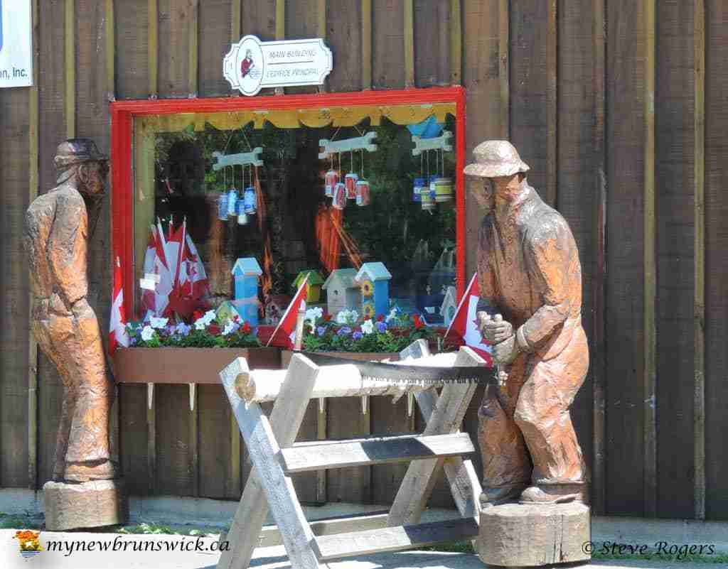 Central New Brunswick Woodmen's Museum is located in the Geographical Centre of the Province of New Brunswick, Boiestown