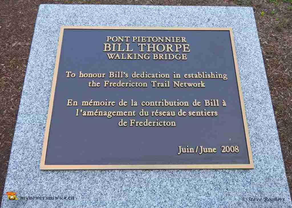 Bill Thorpe Walking Bridge Plaque