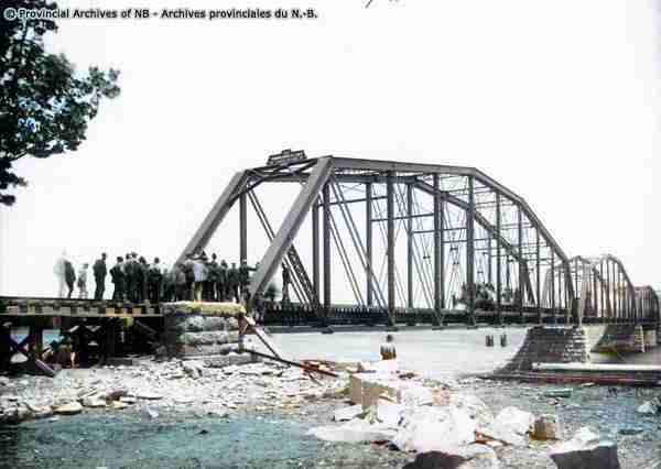 Fredricton Railway Bridge 1888