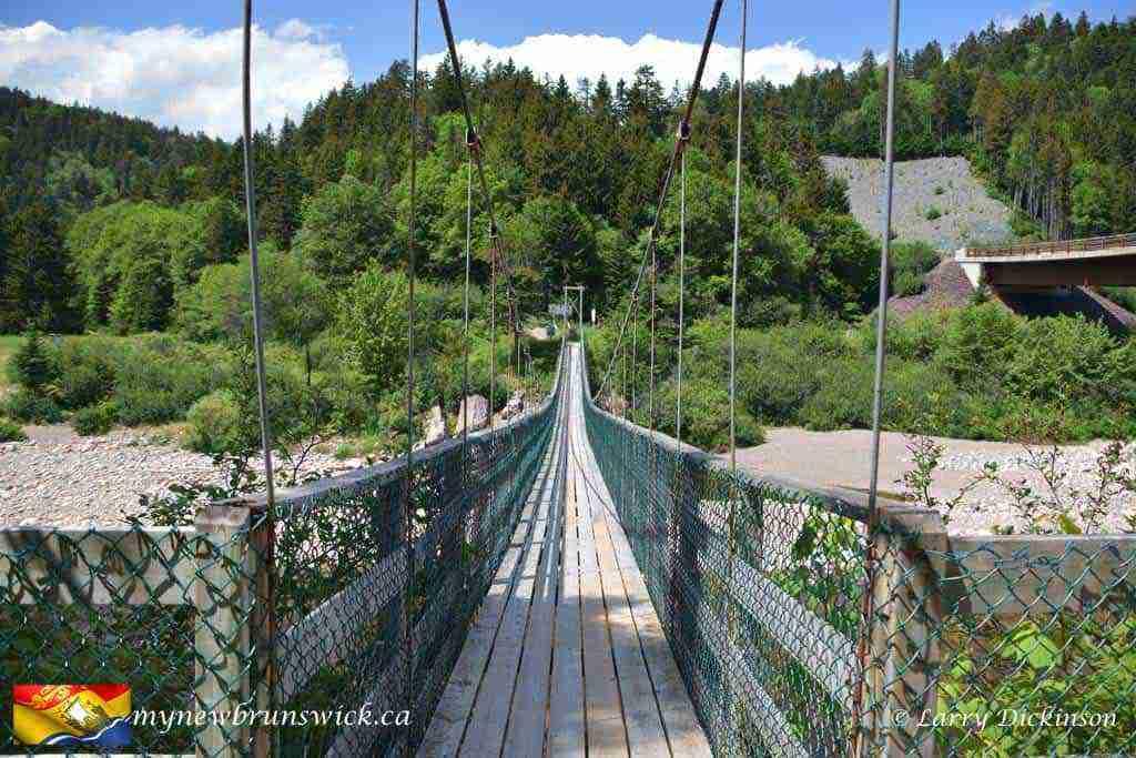 Suspension Bridge over the Big Salmon River