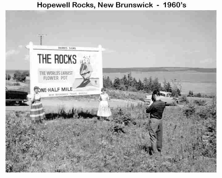 Hopewell Rocks Sign