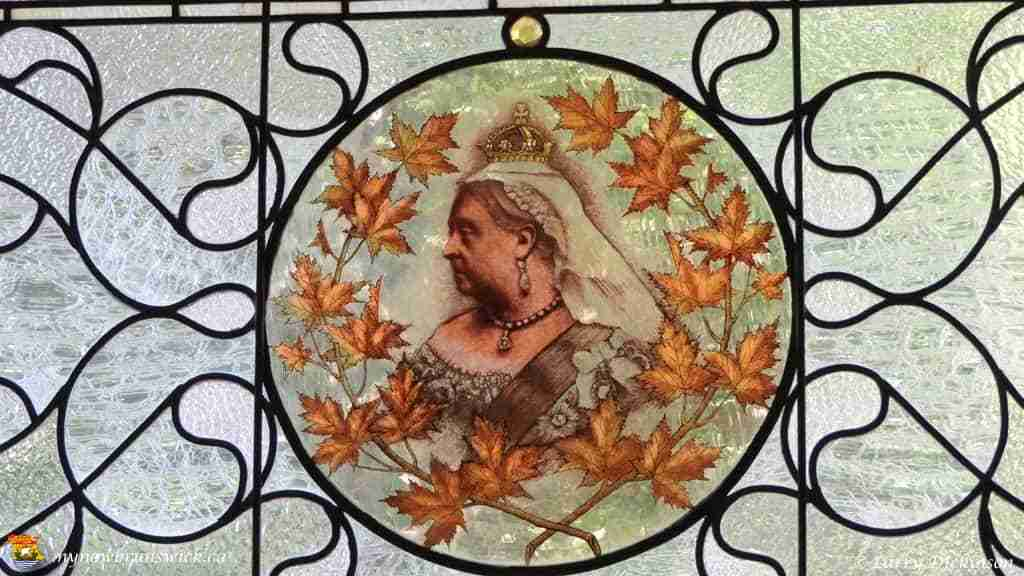 Queen Victoria Stained Glass at Abner Reid McClelan Home
