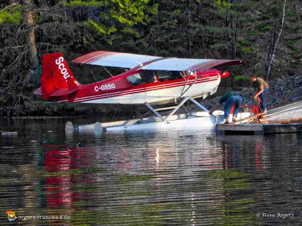Float plane on the Tobique River
