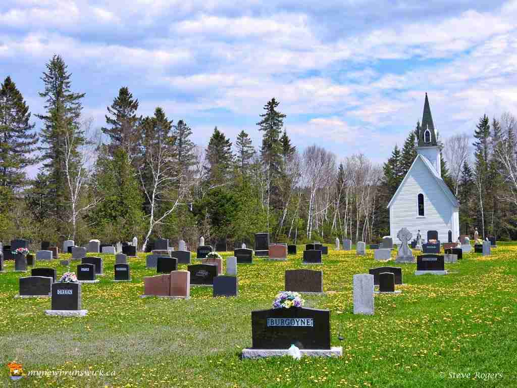 Cemetery at St. James United Church, Three Brooks, NB