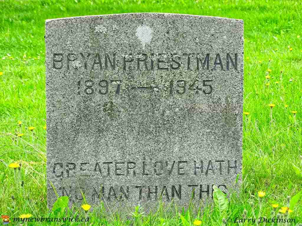Bryan Priestman gravestone