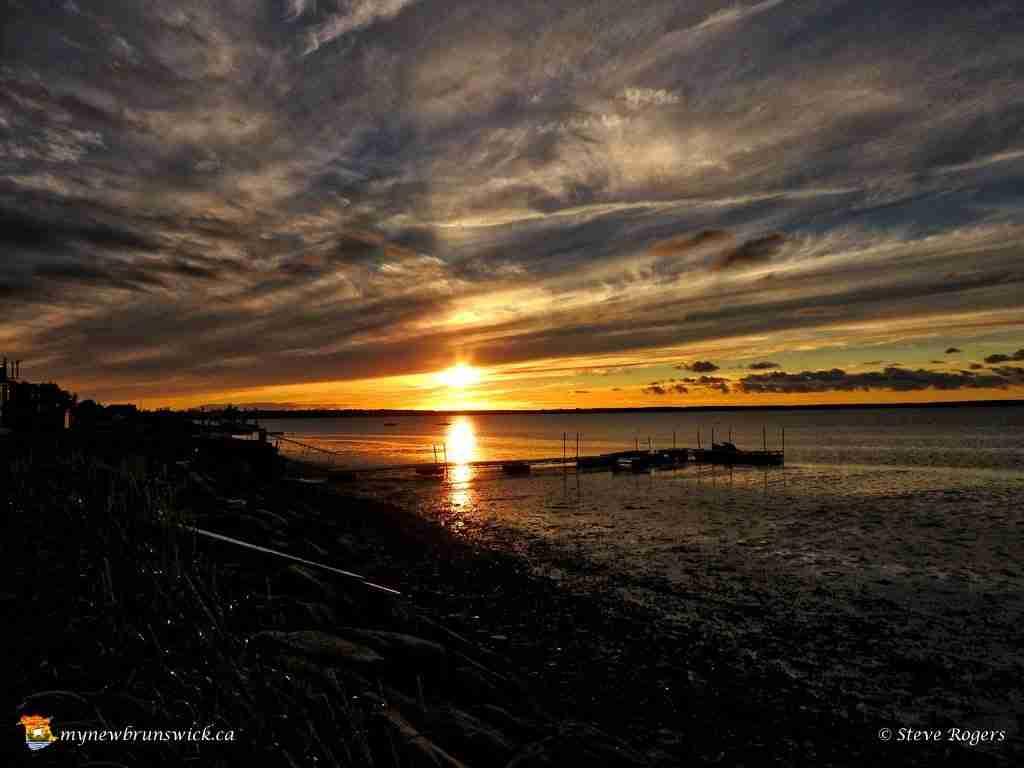 Sunset at Pointe-du-Chêne