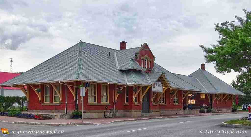Intercolonial Railway Station in Sussex NB