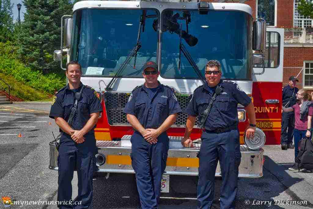 Members of the Fredericton Fire Department at First Responders Open House