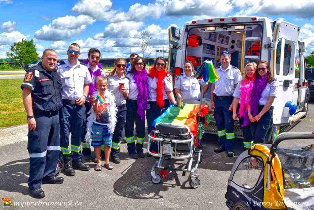 Ambulance New Brunswick celebrate Fredericton Pride 2016
