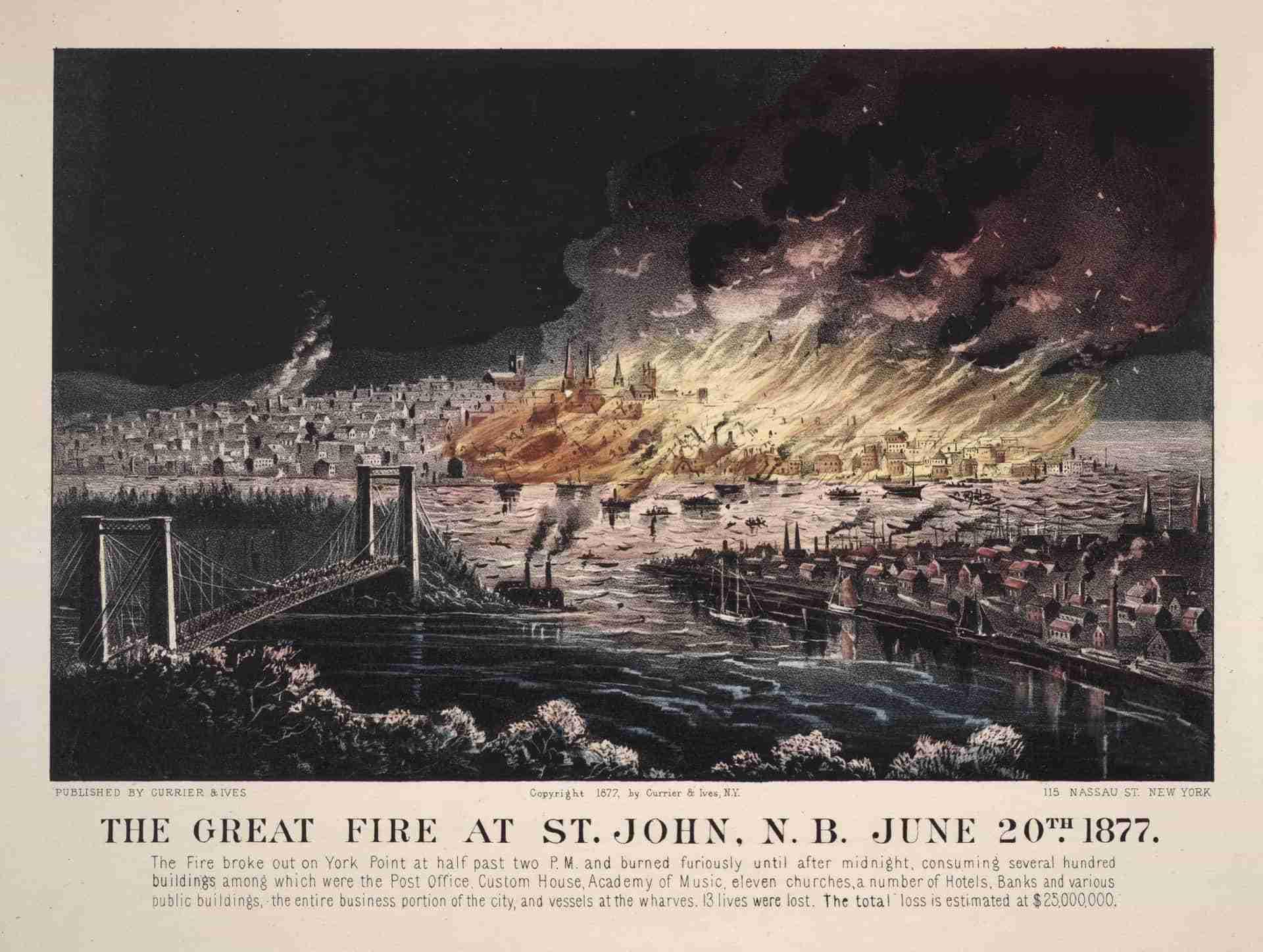The Great Fire in Saint John