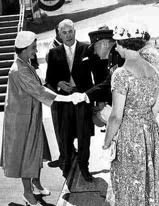 Queen Elizabeth II at Fredericton Airport in 1959
