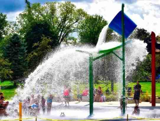 Fredericton's Splash Pad in Wilmot Park