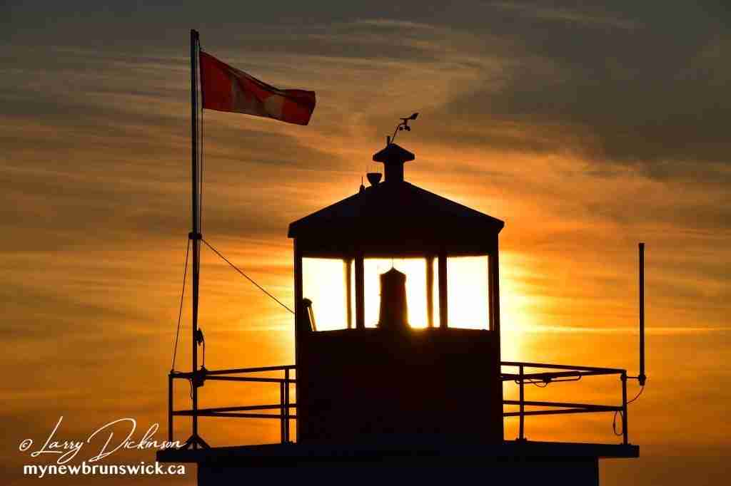 Sunset at Long Eddy Point Light Station
