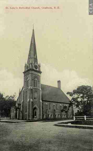 St. Lukes Methodist Church, Chatham, NB designed by James Charles Dumaresq