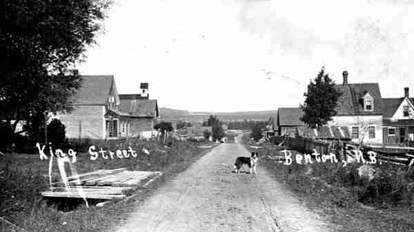 King Street in Village of Benton, NB