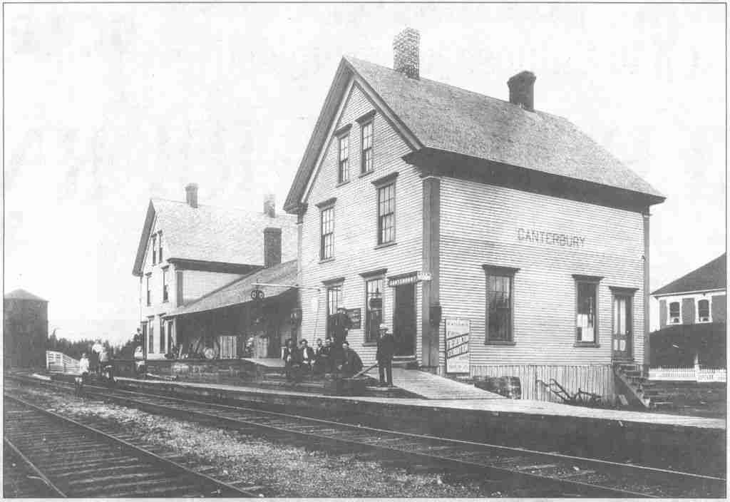 Village of Canterbury, NB Railway Station Photo: Virtualmuseum.ca