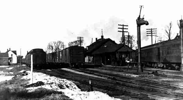 Railway station at Fredericton Junction NB