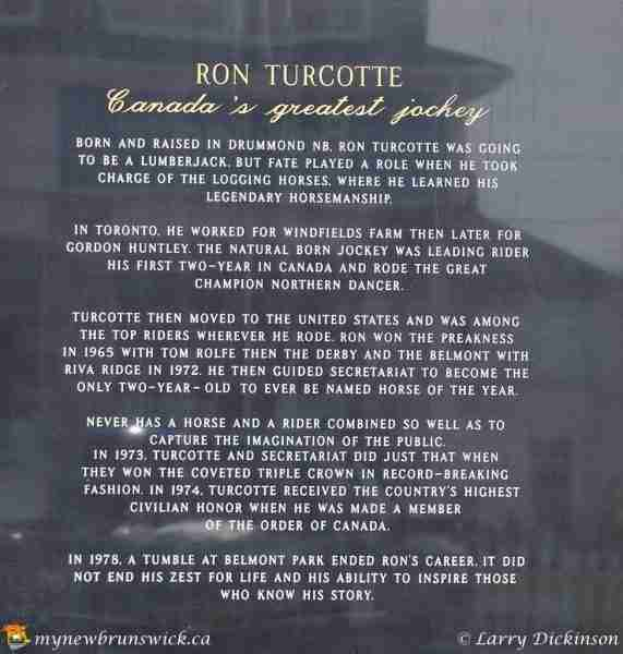 Ron Turcotte from Grand Falls, NB