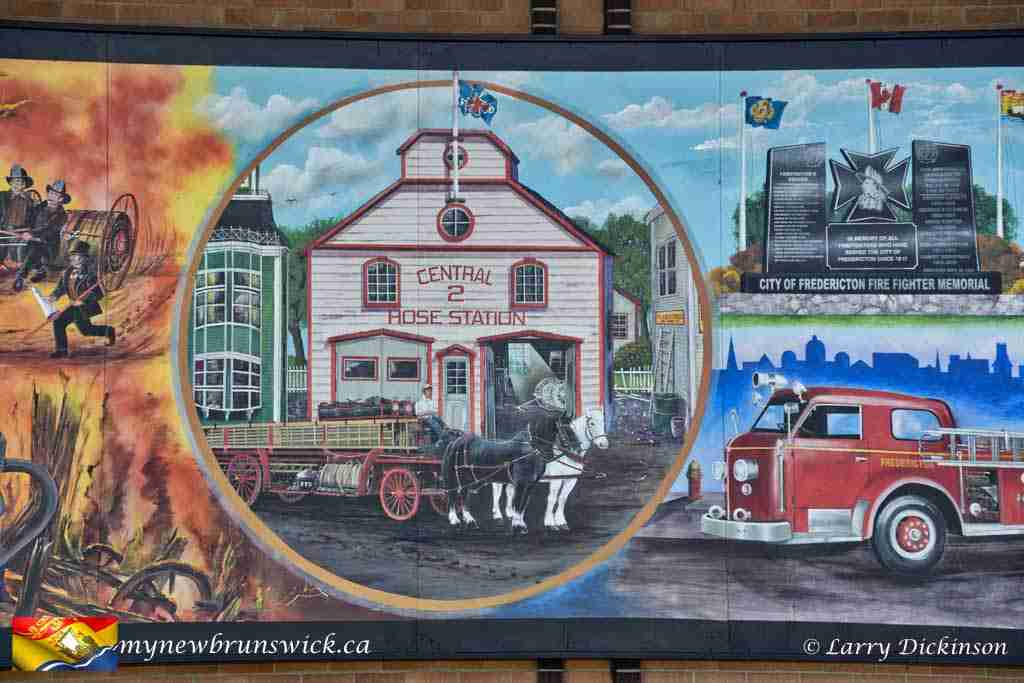 Fredericton Fire Department 200th Anniversary Mural by Ron Sajack