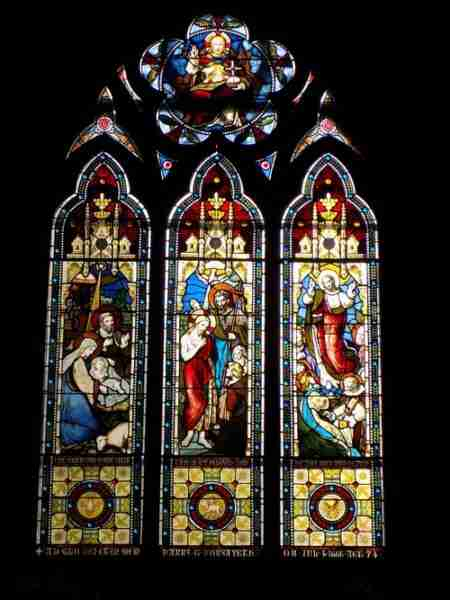 Stained glass window at Holy Trinity Anglican Church - Dorchester