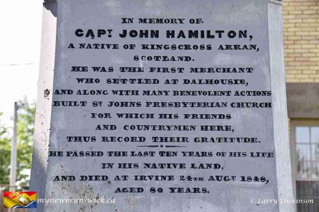 Captain John Hamilton Monument, Dalhousie