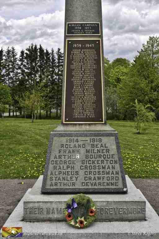 Cenotaph at Sackville Memorial Park