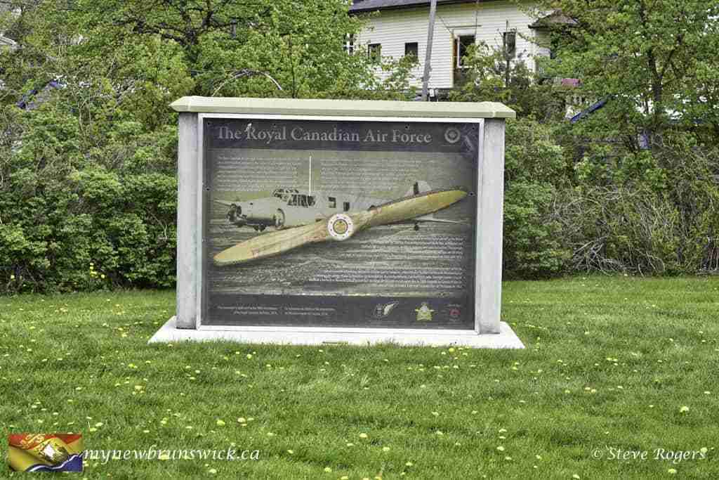 Royal Canadian Air force plaque at Sackville Cenotaph